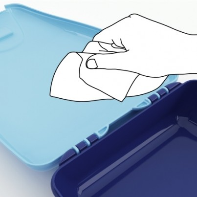 Easy to clean lunchbox  -  Wipes out in seconds!