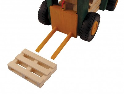 Uniwood Fork Lift Truck wooden toys with pallet U14006