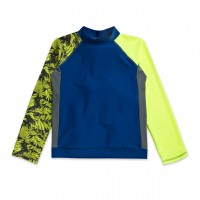 UFO Yellow Tropical Long Sleeve Swim Shirt