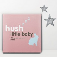Hush Little Baby Personalised Canvas
