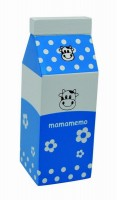 Wooden Blue Milk Cartons (2 pieces)
