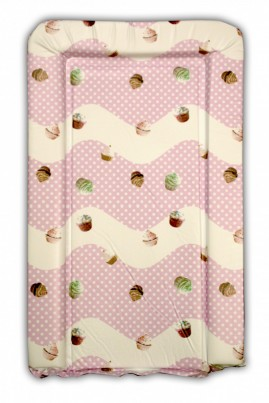 Changing mat - CANDY CUPCAKE design in pink for a girl
