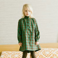 GIRLS WILLA DRESS IN GREEN