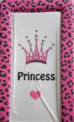 Changing mat - CROWN PRINCESS - Animal Print Cerise