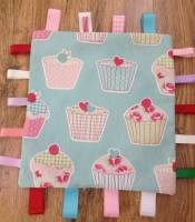 Cup cake comfort taggie blanket