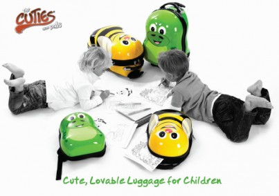 Cazbi the Bee Cutie hard trolley case from the Cuties and Pals