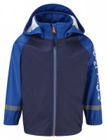 Koster Rain Jacket Unlined Navy/Blue/Orange