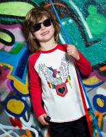 Freddie the Eagle kids baseball top