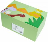 PERSONALISED DINOSAUR WOODEN KEEPSAKE BOX