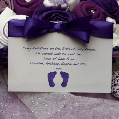 Luxury Lavender Delight Baby Bouquet - Super Deluxe in 0-3 or 3-6 months