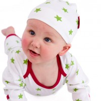 Sleepy Stars Knotted Hat and Romper Set