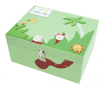 "Boys ""Jungle"" Personalised Wooden Keepske Memory Box"