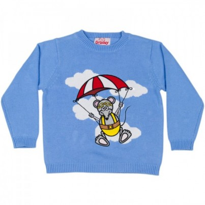 """Stuntmouse Sam"" Knitted Kids Jumper"