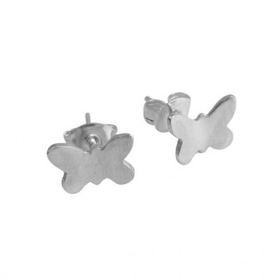 Silver Butterfly Stud Earrings