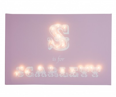 Alphabet - Traditional Personalised Illuminated Canvas Night Light