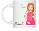 Ceramic mug - Personalised with your own text & pictures. Yummy Mummy to be - Red Haired
