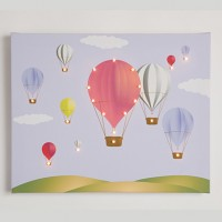 Hot Air Ballons Illuminated Canvas Night Light