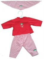 Trousers, Shirt & Scarf Set - Red