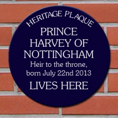 Personalised Blue Heritage Plaque