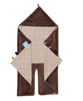 Wrap Blanket - Trendy Wrapping (110 x 90cm) Natural Brown