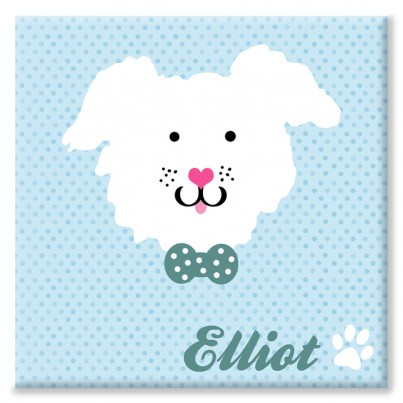 Puppy Personalised Canvas