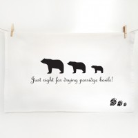 Goldilocks and the Three Bear Tea towels - Porridge Bowls