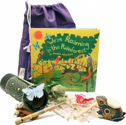 The 'We're Roaming in the Rainforest' is a colourful and vibrant Sensory Tale, the sensory-rich artefacts and musical instruments will entertain and capture the imagination of all ages. Artefacts and activities included.