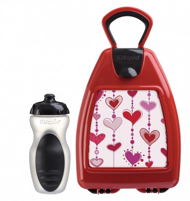 Red lunchbox with hearts