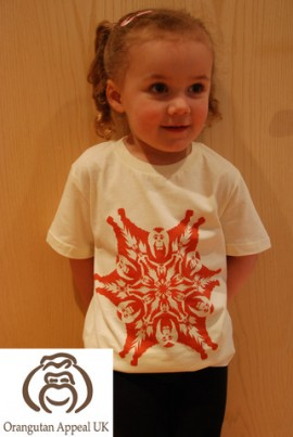 Beautiful Sophia-Rose is 3 and modeling our 3-4 year old T-shirt.