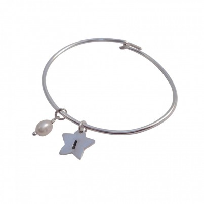 Personalised Childrens Initial Star Bangle