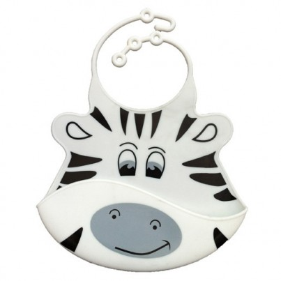 Catch All Baby and Toddler Bib - Zoe Zebra