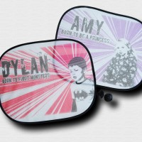 Pair of Personalised Car Sunshades