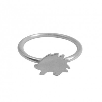 Childrens Silver Hedgehog Ring