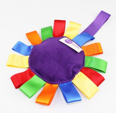 A wonderfully tactile Beany Flower, perfect for fiddling fingers