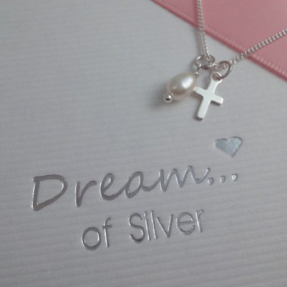 Childrens Tiny Cross Charm Necklace