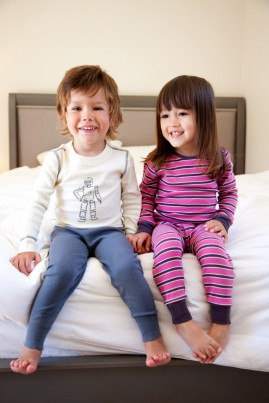 Boys Organic Cotton Robot Pyjamas