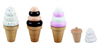 Waffle Ice Creams With Changeable Tops (3 pieces)