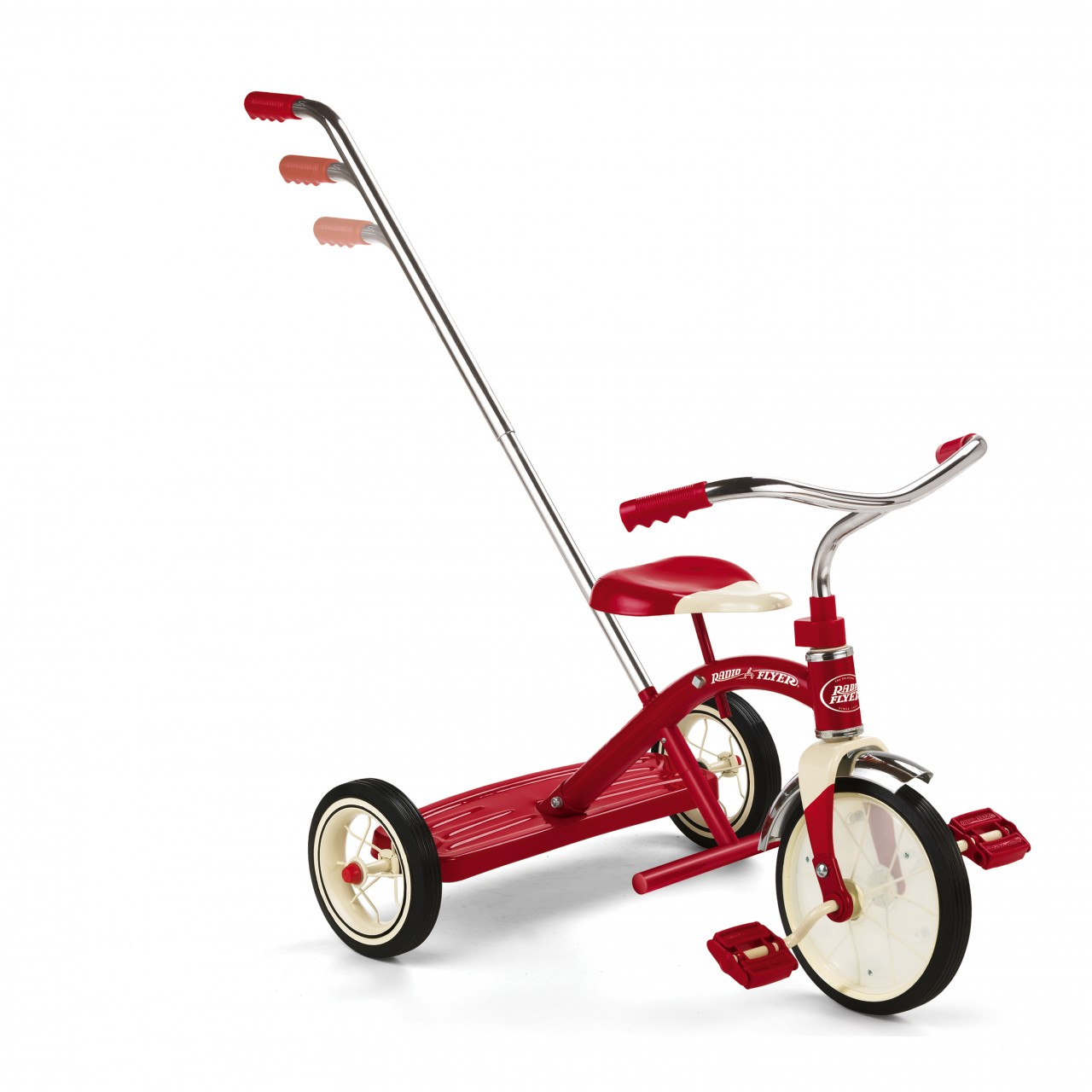 Buy Classic Red Trike With Push Handle By Radio Flyer