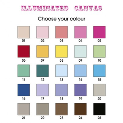 Choose from 25 different colours for your background
