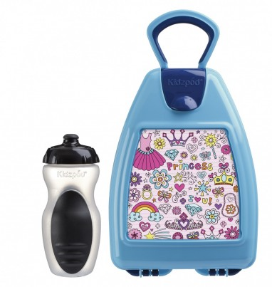 Blue lunchbox with princess
