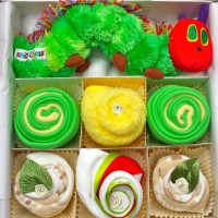 Hungry Caterpillar Baby Clothing Cupcakes - Deluxe, baby shower gift
