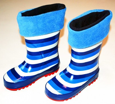 Childrens cobalt blue and navy welly warmas