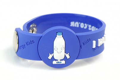 """I Have A Milk Allergy"" Awareness wristband"