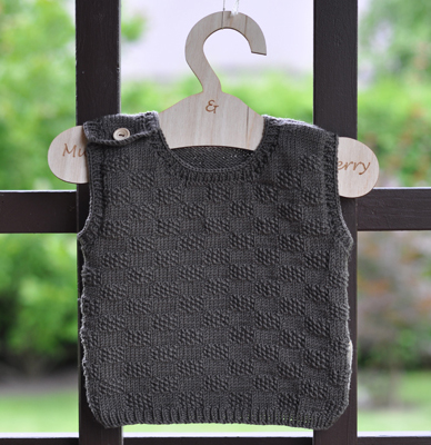MERINO WOOL VEST BROWN