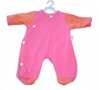 Pink & Peach Romper Suit / Sleepsuit