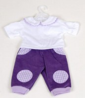 Purple Trousers and Scarf Set