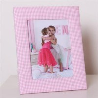 Babyface Pink Gingham Photo Frame