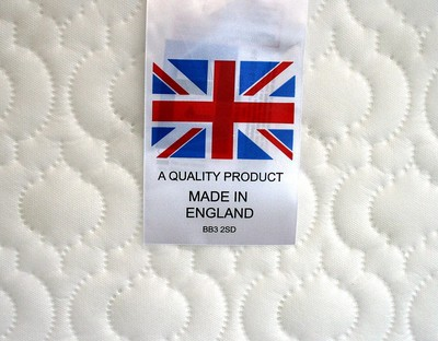 COT MATTRESS FULLY SPRUNG MATTRESS 119 x 58 x 10 cm with quilted washable cover