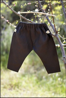 LINEN TROUSERS BROWN