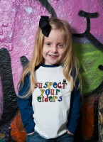 'Suspect your Elders' kids Baseball top